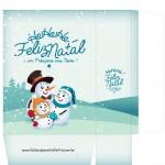 Sacolinha Boneco de Neve Azul Claro - A4 Parte 2