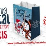 Sacolinha Boneco de Neve para Natal – Grátis