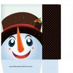 Sacolinha Rosto Boneco de Neve - A4 Parte 1