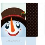 Sacolinha Rosto Boneco de Neve - A4 Parte 2