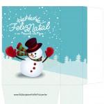 Sacolinha Surpresa Boneco de Neve - A4 Parte 2