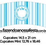 Saias Wrappers para Cupcakes Realeza Azul