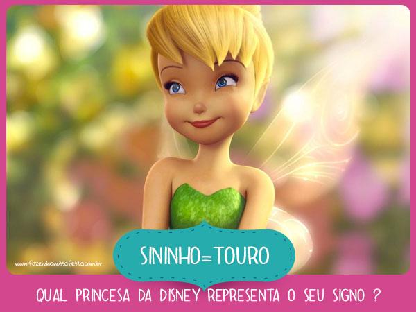 Sininho de Touro - Qual princesa da Disney representa o seu