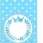 Tag agradecimento Realeza Azul