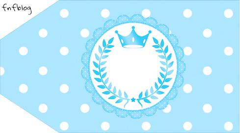 Tag agradecimento pequena Realeza Azul