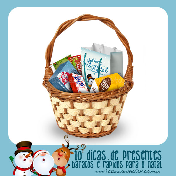 Cesta de Natal Personalizada do Blog Fazendo a Nossa Festa