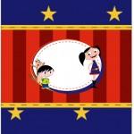 Bala Personalizada Show da Luna Azul e Vermelho