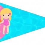 Bandeirinha 2 Pool Party Menina Loira