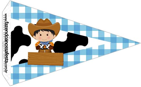 Bandeirinha Sanducihe 4 Kit Fazendinha Menino
