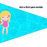 Bandeirinha Sanduiche 3 Pool Party Menina Loira