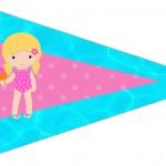 Bandeirinha Sanduiche 4 Pool Party Menina Loira