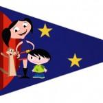 Bandeirinha Sanduiche 4 Show da Luna Azul e Vermelho
