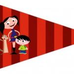 Bandeirinha Sanduiche 5 Show da Luna Azul e Vermelho