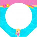 Bandeirinha Varalzinho Pool Party Menina Loira