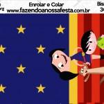 Bisnaga Brigadeiro Show da Luna Azul e Vermelho