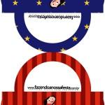 Bolsa Saquinho de Balas Show da Luna Azul e Vermelho