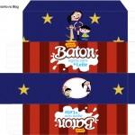 Caixa Baton Show da Luna Azul e Vermelho