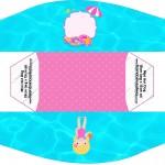 Caixa Cachorro-quente Pool Party Menina Loira