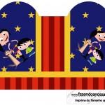 Caixa Coração Show da Luna Azul e Vermelho