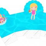 Caixa Cupcake 2 Pool Party Menina Loira