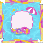 Caixa bombom Pool Party Menina Loira - Parte de cima