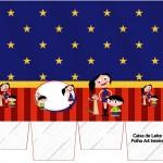 Caixa de leite Show da Luna Azul e Vermelho