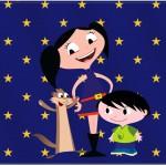 Cartão Show da Luna Azul e Vermelho