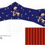 Casinha Show da Luna Azul e Vermelho