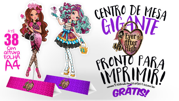 Centro de Mesa Ever After High