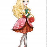Centro de Mesa ever after high apple white 1-1