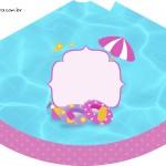 Chapeuzinho de festa Pool Party Menina Loira