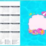 Convite Calendário 2016 Pool Party Menina Loira