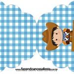 Convite Cupcake Kit Fazendinha Menino