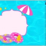 Convite Ingresso Pool Party Menina Loira