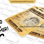Convite Jornal Antigo – Grátis para Imprimir
