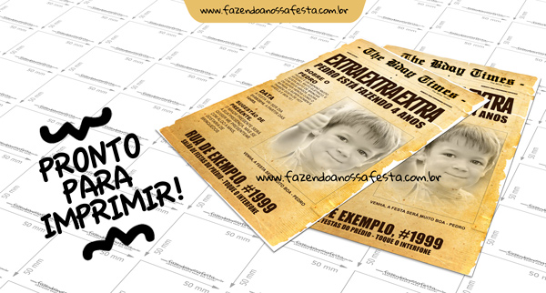 Convite Jornal para Imprimir
