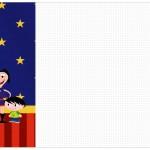 Convite,Cardápio ou Cronograma em Z Show da Luna Azul e Vermelho