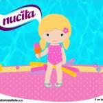 Creminho Nucita Pool Party Menina Loira