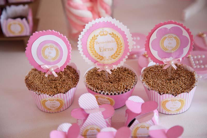 Cupcakes Chá de Bebê Coroa de Princesa