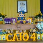 Decoração Mesa Festa Minions do Caio Márcio