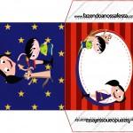 Envelope CD DVD Show da Luna Azul e Vermelho