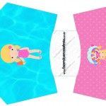 Envelope Fritas Pool Party Menina Loira