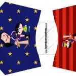 Envelope Fritas Show da Luna Azul e Vermelho