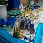Festa Coroa de Príncipe Azul Marinho do Fabrício