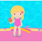 Lata de Leite Pool Party Menina Loira