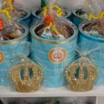 Latinhas personalizadas Festa Coroa de Príncipe Azul Marinho do Fabrício