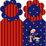 Marcador de Paginas Show da Luna Azul e Vermelho