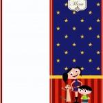 Menu Show da Luna Azul e Vermelho