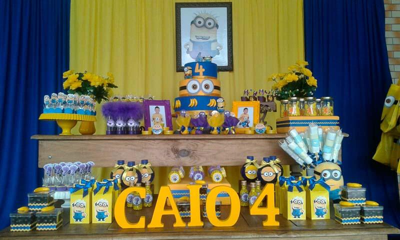 Mesa de Doces Festa Minions do Caio