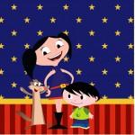 Mini Confeti Show da Luna Azul e Vermelho
